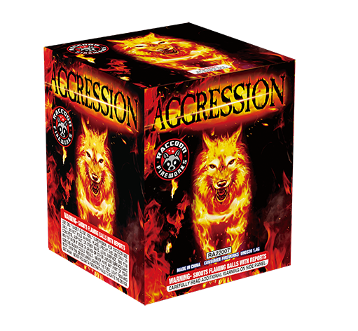 RA22007 Aggression 200 Gram 25 Shots Cake
