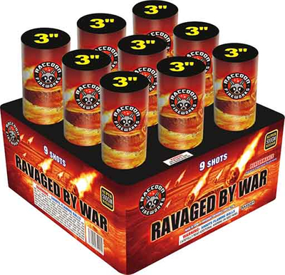 RA55201 Ravaged by War 500 Gram Super Large Finale Shell Rack