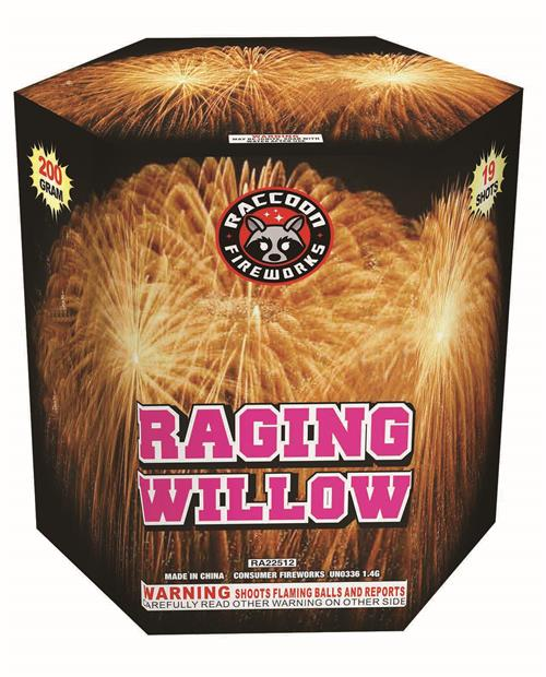 RA22512 Raging Willow 200 Gram 19 Shots Hexagon Cake